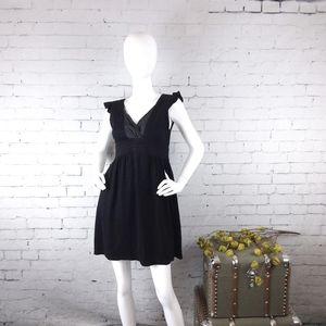 Prairie Underground Empire Waist Mini Dress Blk M